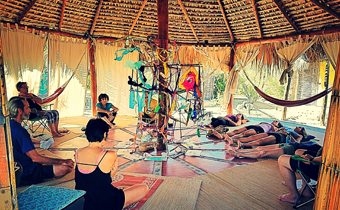 We strive to provide an environment of peace and simplicity, incorporating the creative participation of the locals, and using sustainable technologies to supply our needs. Eight eco-friendly rooms are available for our guests. Our 8 beautiful desert Eco-casitas for two people have stone floors, stucco walls, and thatch roof. Solar powered lamps in each room and a side table.